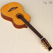 Full size 6 string 39 inches classic guitar spruce wood top matte finish natural color classical guitar