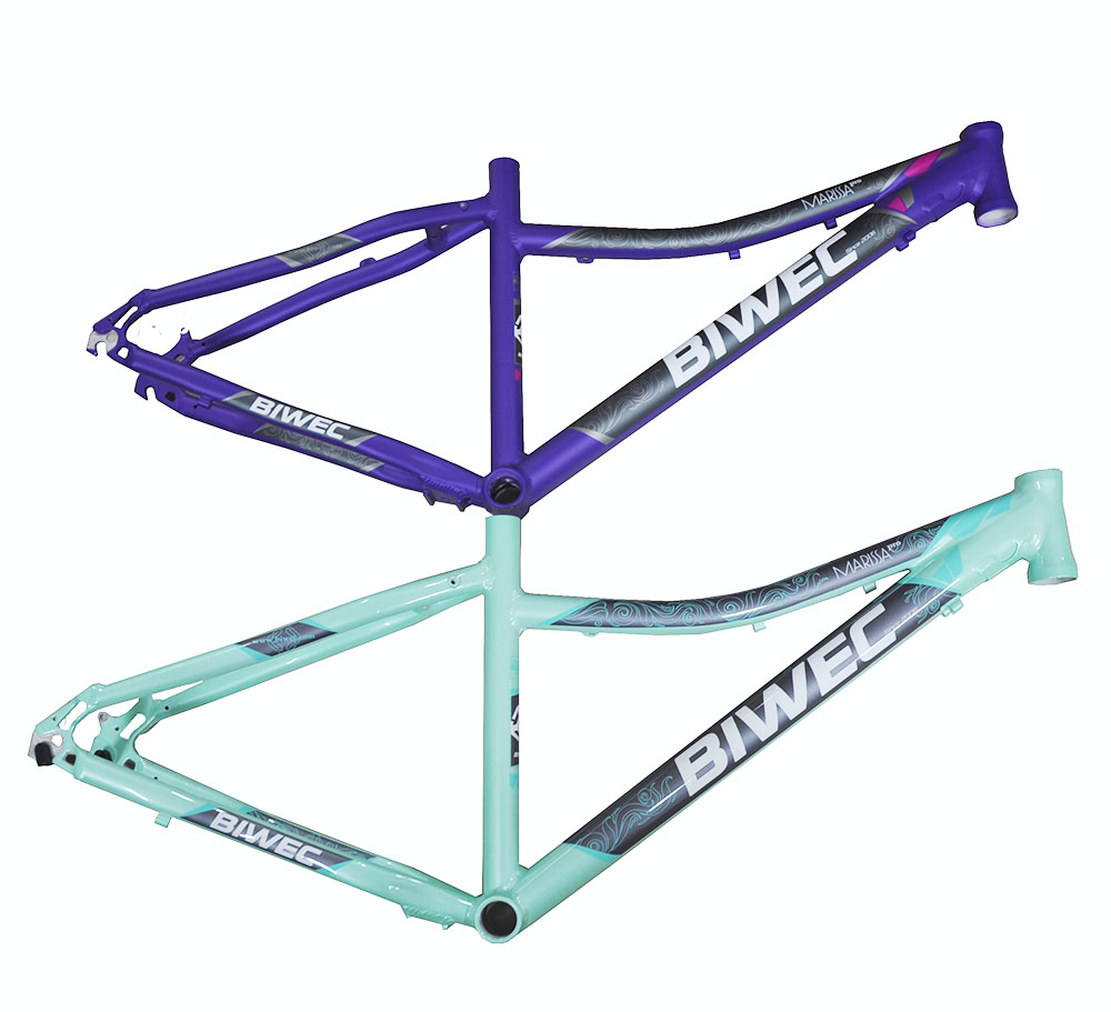 Last 26*17 Inch Aluminum Alloy MTB Mountain Bicycle Frame  Women's'  Kiddy Frame Routing 26er Bike Frame Off-road Bicycle Frame