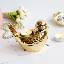 1ps Nordic Bird świecznik żelaza świecznik lampa stołowa wystrój wnętrz świąteczne dekoracje na Halloween do dekoracji wnętrz tanie tanio Home Decoration Dopasowanie kubek świeca Miska Europa BAMBOO