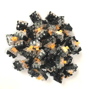 Gateron optyczne żółte przełączniki srebrny brązowy czerwony niebieski prędkość optyczna przełączniki hurtowe dla SK61 SK64 GK61 GK61 klawiatura optyczna tanie i dobre opinie DYE FETISH Pulpit NONE english CN (pochodzenie) mini klawiatura PRZEWODOWY Z gumy przewodzącej Standardowy