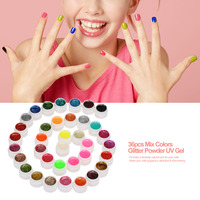ANSELF 36pcs Mix Colors Professional UV Gel Set Builder Gel for Nail Varnish Glitter Powder UV Gel Nail Art Gel Polish Extension