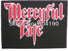 MERCYFUL kader Logo demir/yama dikmek Tshirt transferi MOTIF aplike kaya Punk rozeti toptan