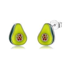 ZEMIOR S925 Sterling Silver Earrings Cubic Zirconia Avocado Shaped Earring For Women Fine Jewelry Best Selling Christmas Gift