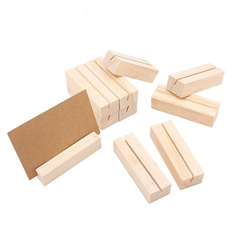 20 partes de madeira lugar cartao suportes 04