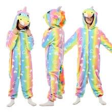 Children Pajamas Onesie Jumpsuit Sleepwear Unicorn Kigurumi Kids 6 10 8 4 Girls 12-Years