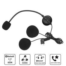 2 Pcs Microphone Earpiece Type-c Interface For BT-S3 BT-S2 Motorcycle Bluetooth Headset Helmet Intercoms Handsfree Interphone стоимость