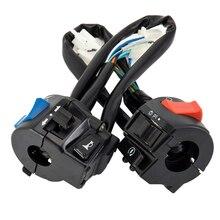 1 paio di accessori per il controllo dellinterruttore della maniglia del motociclo indicatore di luce elettrico impermeabile semplice universale acceso spento multifunzionale