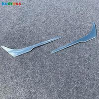 For Toyota Prius 2019 2020 Hatchback ABS Chrome Exterior Accessories Front Bumper Grid Grill Strip Trim Cover Car Styling