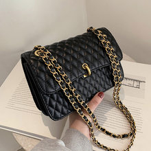 Lingge PU Leather Small Crossbody Bag 2021 Fashion New High Quality Lady Travel Luxury Chain Shoulder Handbag And Purses