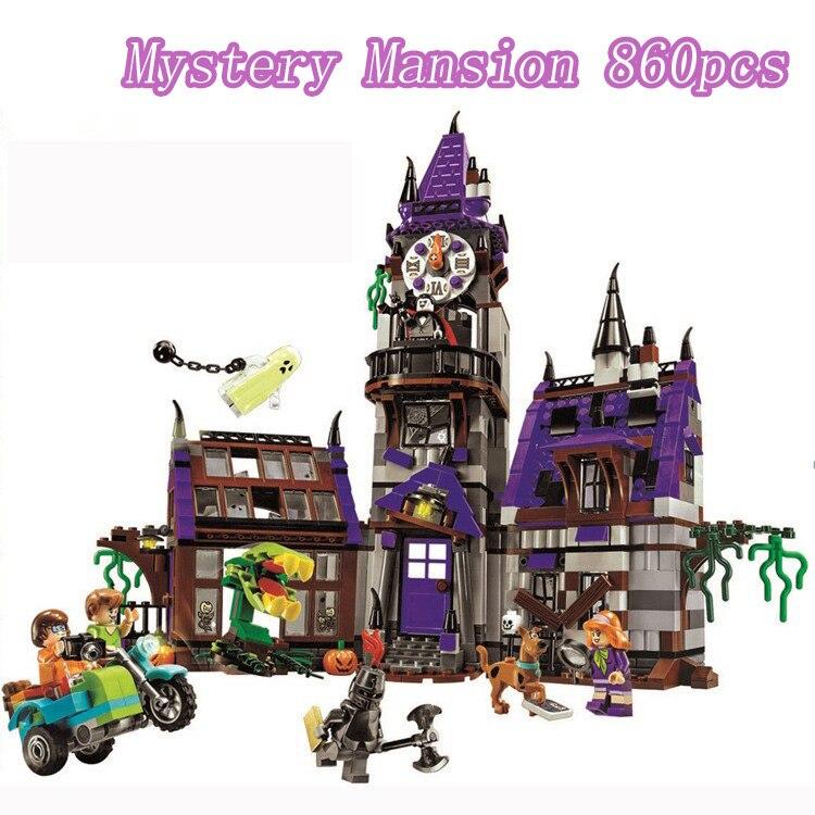 Scooby Doo таинственное удвоенное здание дом с приведениями на Хеллоуин 75904 фигурки блокирующие строительные блоки кирпичи игрушки для мальчик...