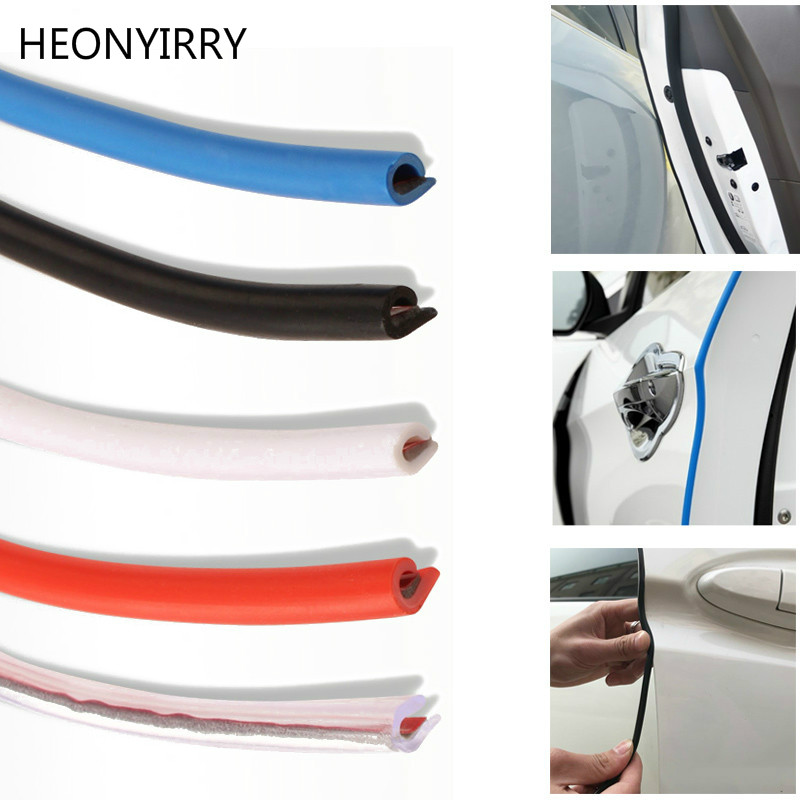 New Open The Door Car Anti Collision 5M Auto Door Collision Avoidance Stick Rubber Strip Decoration Stickers Car Accessories