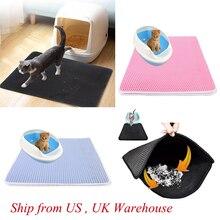 Водонепроницаемый подстилка для кошки EVA двухслойный кошачий помет для помёта для домашних животных коврик для кошек чистый коврик товары для котов аксессуары