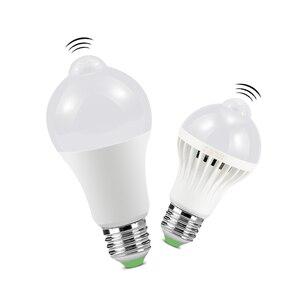 Image 1 - LED veilleuse PIR capteur ampoules mouvement du corps 220V 230V détecteur de mouvement LED lampe escaliers couloir éclairage 5W 7W 9W 12W 18W