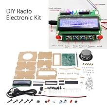 DIY DC 5V radyo elektronik kiti parçaları TDA5807 51 tek çipli FM dijital ses makinesi STC89C52 çip 87MHZ 108MHZ