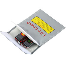 1Pc  Fireproof RC LiPo Battery Safety Bag High Temperature Loop Remote Control Model Dian Chi Dai S Queen Bag high quality lipo li po battery fireproof safety guard safe bag 215 45 165mm toys wholesale free shipping