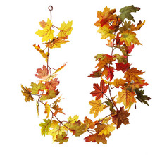Artificial Maple Leaves Garland For Christmas Decorations Home Simulation Fall Wedding Party Halloween Decor
