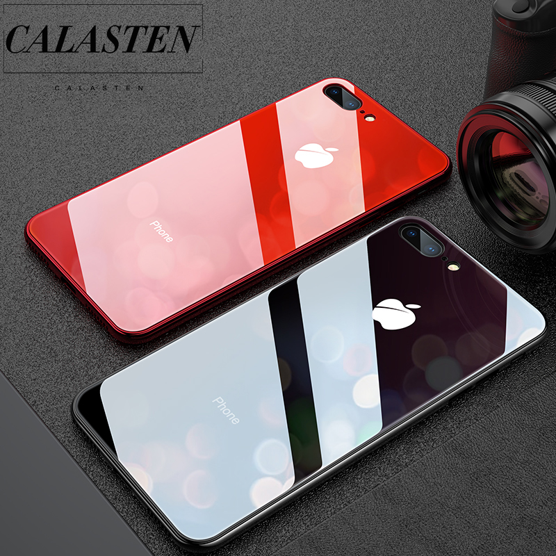 Romax Luxury Tempered Glass Mirror Glossy Case for iPhone 7 8 6 6s Plus iPhone7 iPhone8 Cover XR X XS Max 10