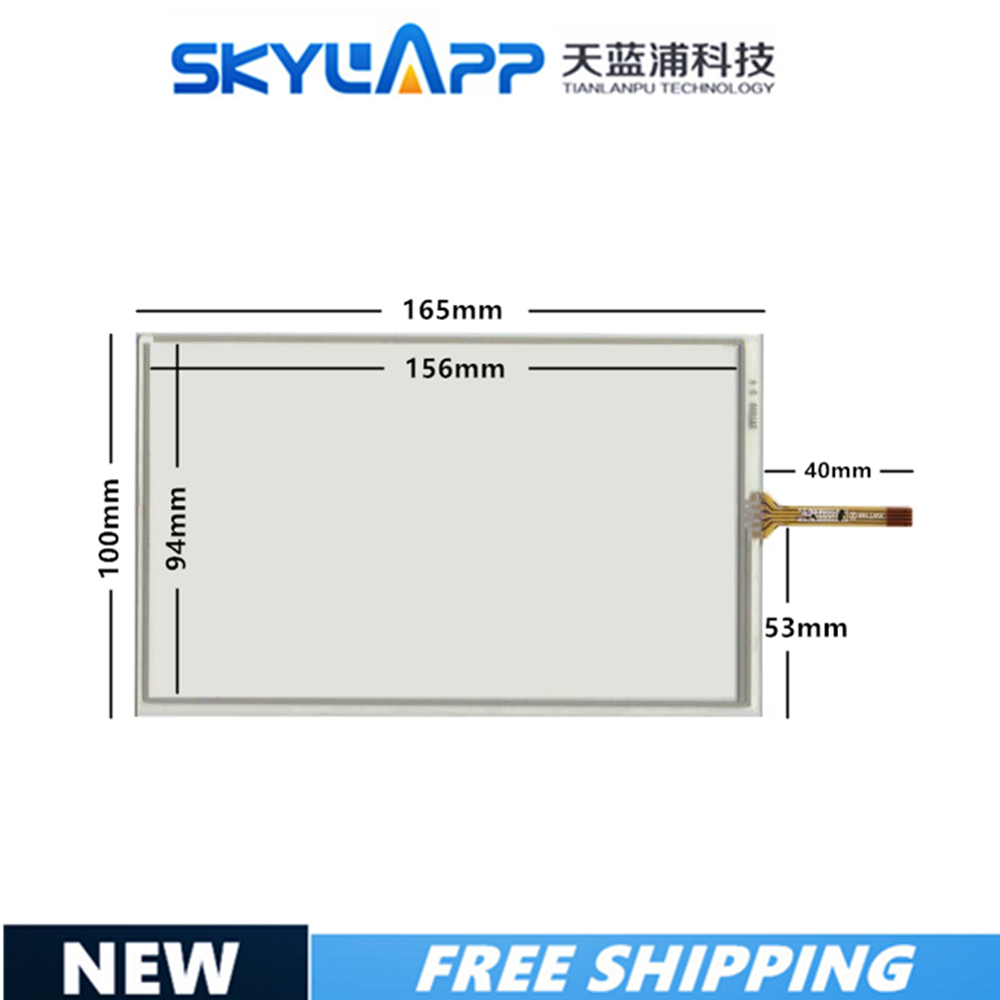 7 inch For Winca S100 Wince 6 Compatible Touch Screen Glass 4 lines <font><b>165</b></font>*<font><b>100</b></font> Resistive <font><b>Touchscreen</b></font> image