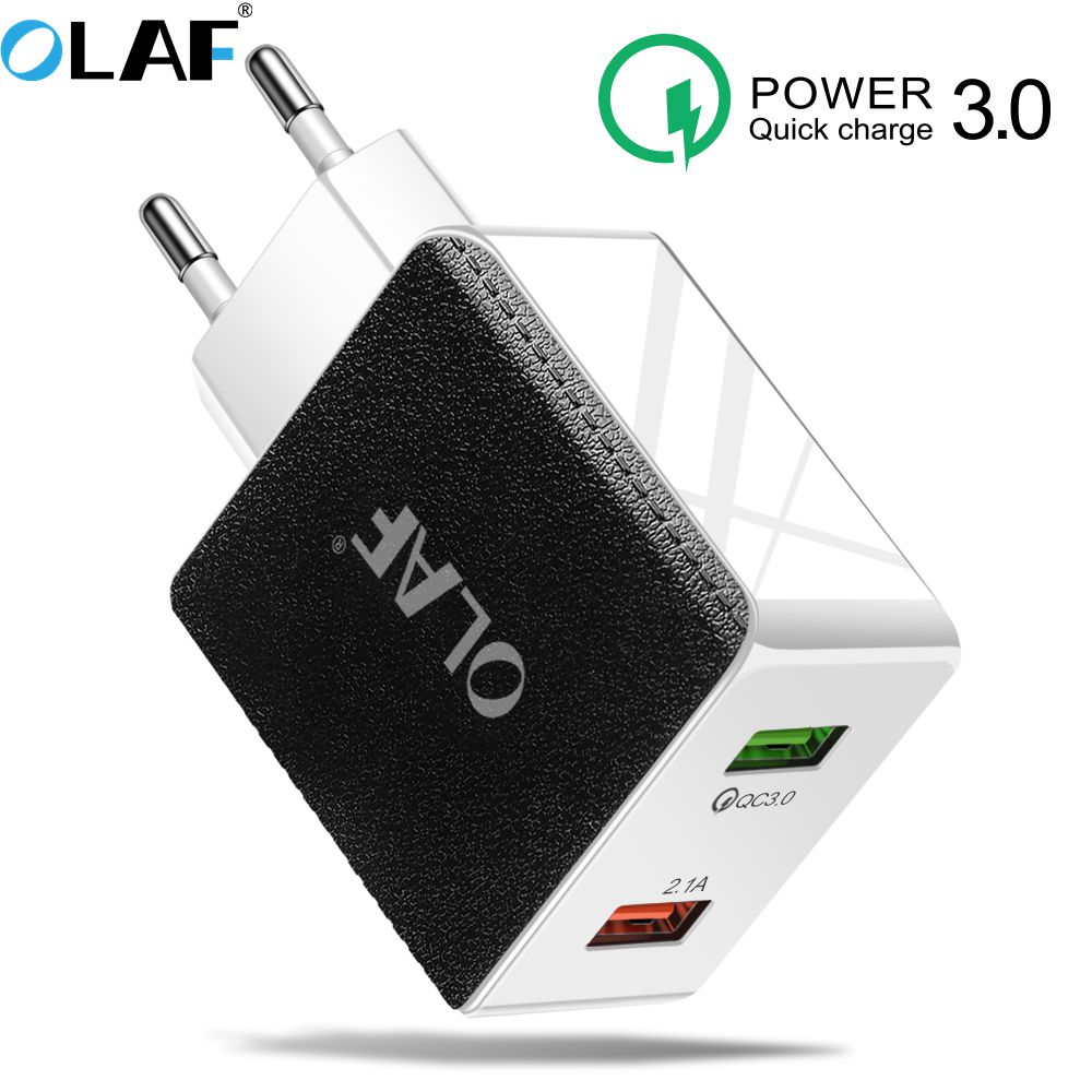 Olaf Quick Charge 4.0 3.0 USB Charger For Redmi Note 7 Pro 48W 5A <font><b>Supercharge</b></font> Fast USB Phone Charger For <font><b>Huawei</b></font> P30 iPhone X XR image
