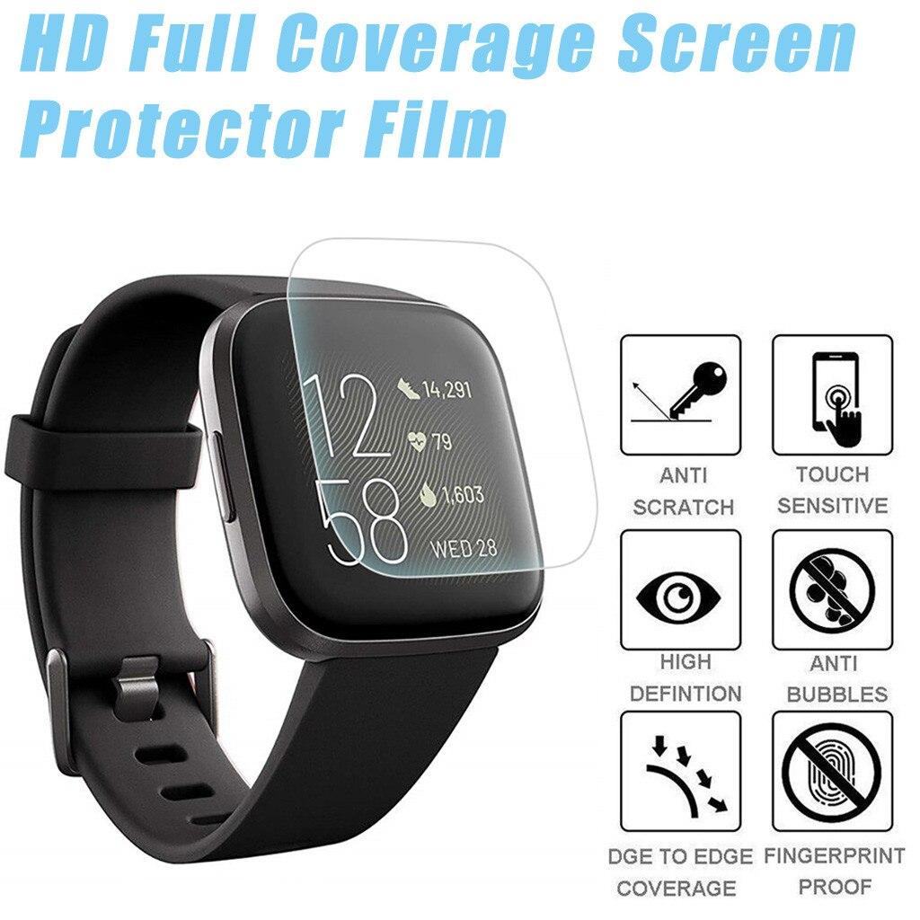 3 шт Мягкий ТПУ полный экран протектор для Fitbit Versa 2 спортивные Смарт часы Защитная пленка крышка