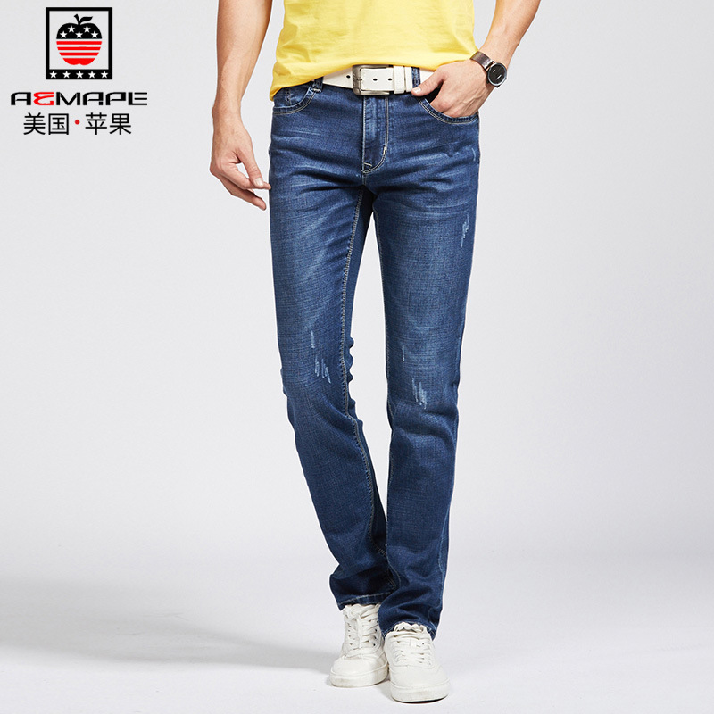 Genuine Product MEN'S Jeans Elasticity Straight-Cut MEN'S Jeans Ap-w17010 #
