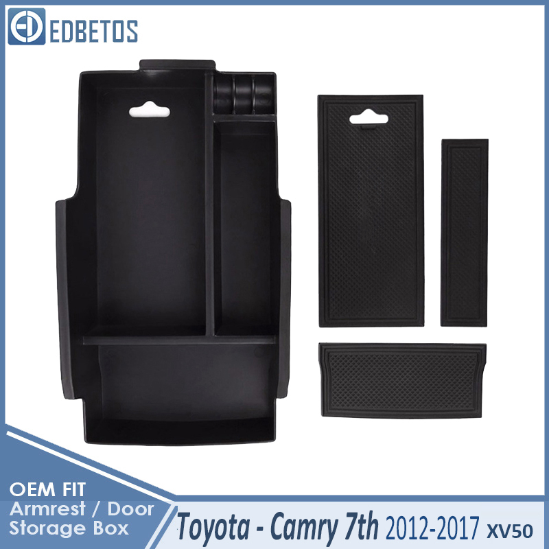 * Camry Car Armrest Box Center Console Storage Glove Box Organizer Insert Tray For Toyota Camry 2012 2013 2014 2015 2016 2017 5