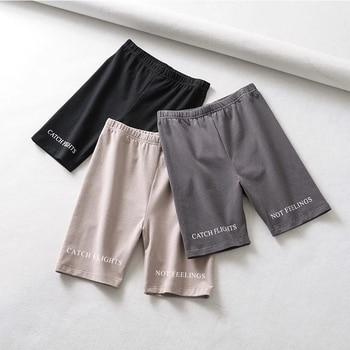 Short paragraph Letter printed Leggings For Women High Waist Black Fashion SweatPants Push Up Fitness Leggings casual pants 5