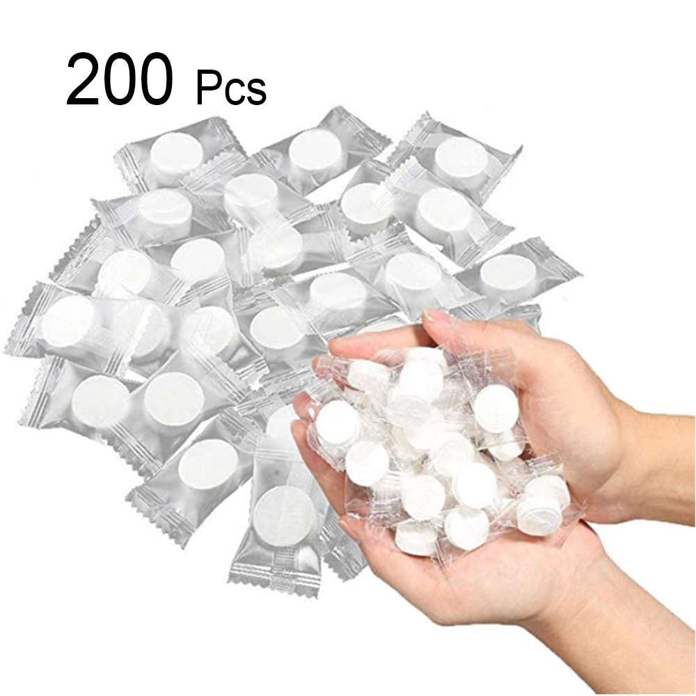 200Pcs Disposable Travel Towel Compressed Face Towel Cotton Water Wet Wipe Washcloth Napkin Outdoor Moistened Tissues