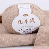 100% mongol orgánico Natural sin teñir, hilo de lana de Yak para ganchillo tejido a mano, bricolaje, suave para prendas de moda, ropa de bebé