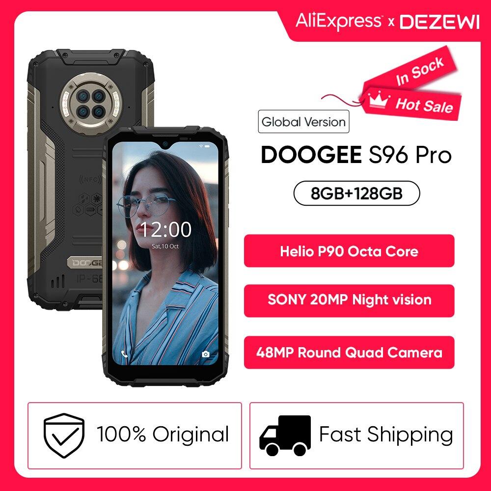 DOOGEE S96 Pro 6350 мА/ч, глобальная версия 24 Вт Быстрая зарядка 48MP Quad Camera 20MP инфракрасный Ночное видение Helio G90 Octa Core 128 ГБ