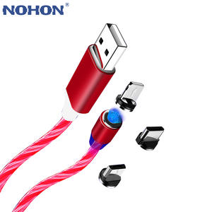 NOHON Magnetic USB Cable Micro Type C Magnet Charger For iPhone XR XS Max X Xiaomi Samsung