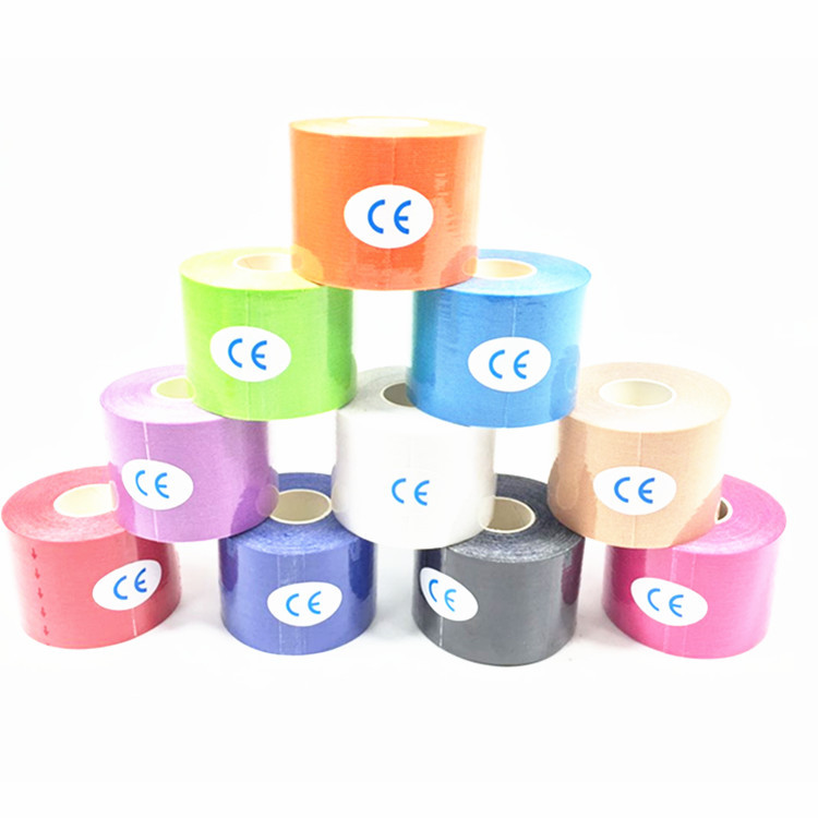 Export Elastic Sports Bandage Muscle Paste Kinesio Taping Adhesive Tape Kinesio Taping Kinesiology Tape