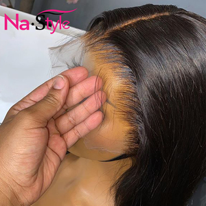 Image 2 - 13x4 Lace Front Human Hair Wigs For Black Women 250% Long Straight Human Hair Wig Pre Plucked With Baby Hair Natural Hairline