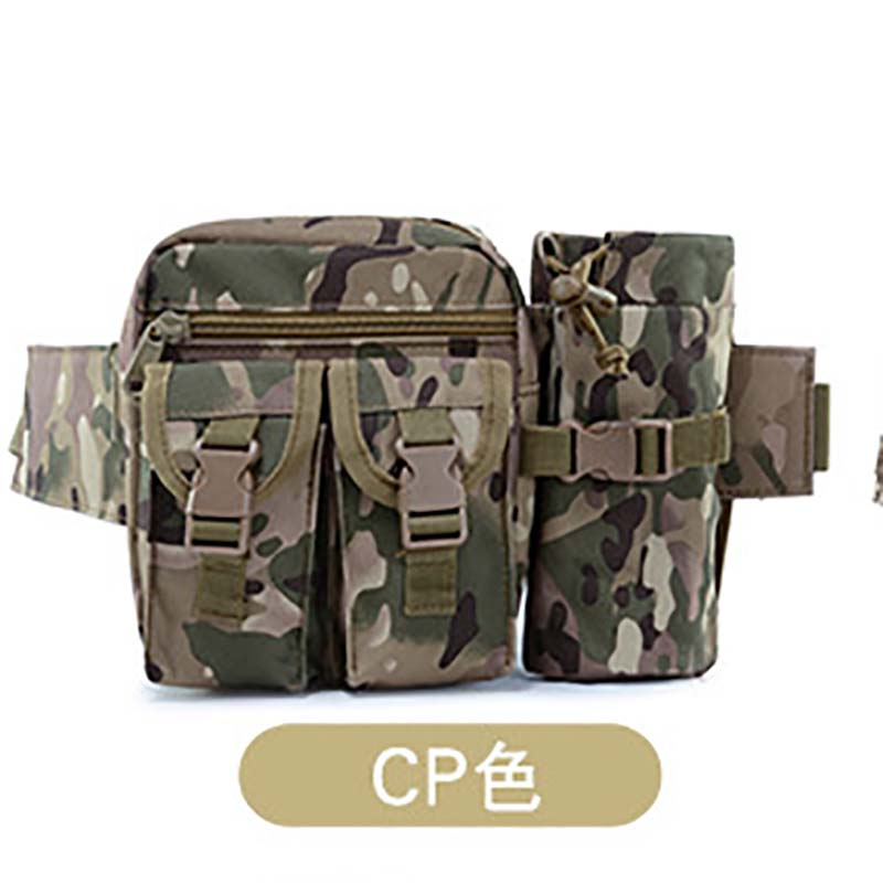 Outdoor Travel Tactical Waist Bag Waterproof Oxford Camping Hiking Chest Pouch With Kettle Bag Military Fanny Pack Shoulder Bag