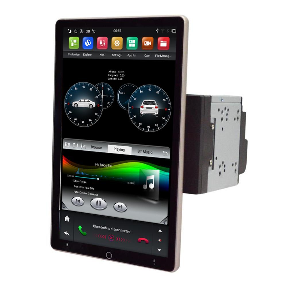 2 din универсальный dsp автомобильный аудио стерео плеер 10,1 дюймов android 9,0 IPS экран 180 градусов вращение автомобиля видео carplay