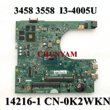 Mainboard Dell Inspiron I3-4005U 14216-1 FOR 3458/3558 Laptop 1xvkn/Cn-0k2wkn/K2wkn/..