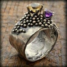 Anillo Irregular antiguo para mujer, anillo de compromiso de boda, joyería vintage Sz 6-10