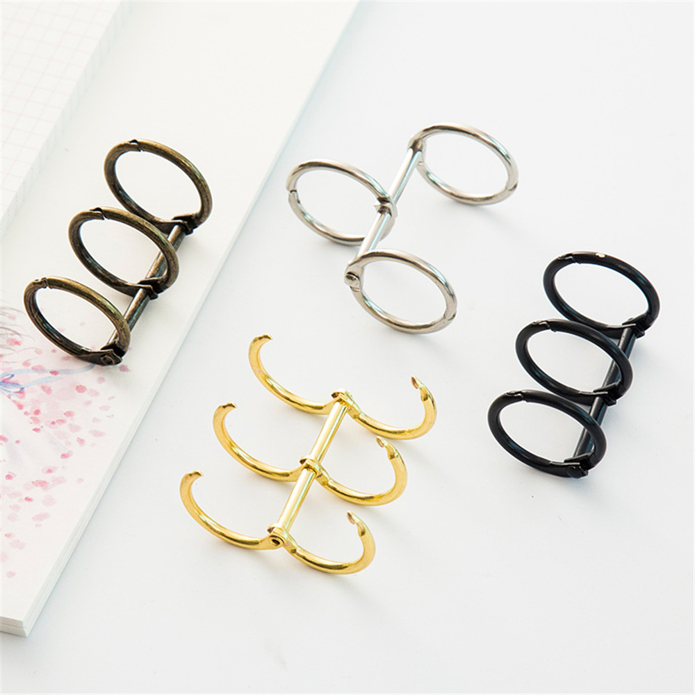 1pcs Creative Metal Loose Leaf Book Binder Hinged Rings Scrapbook Clips Craft Photo Album Metal Ring Binder Desk Calendar Circle