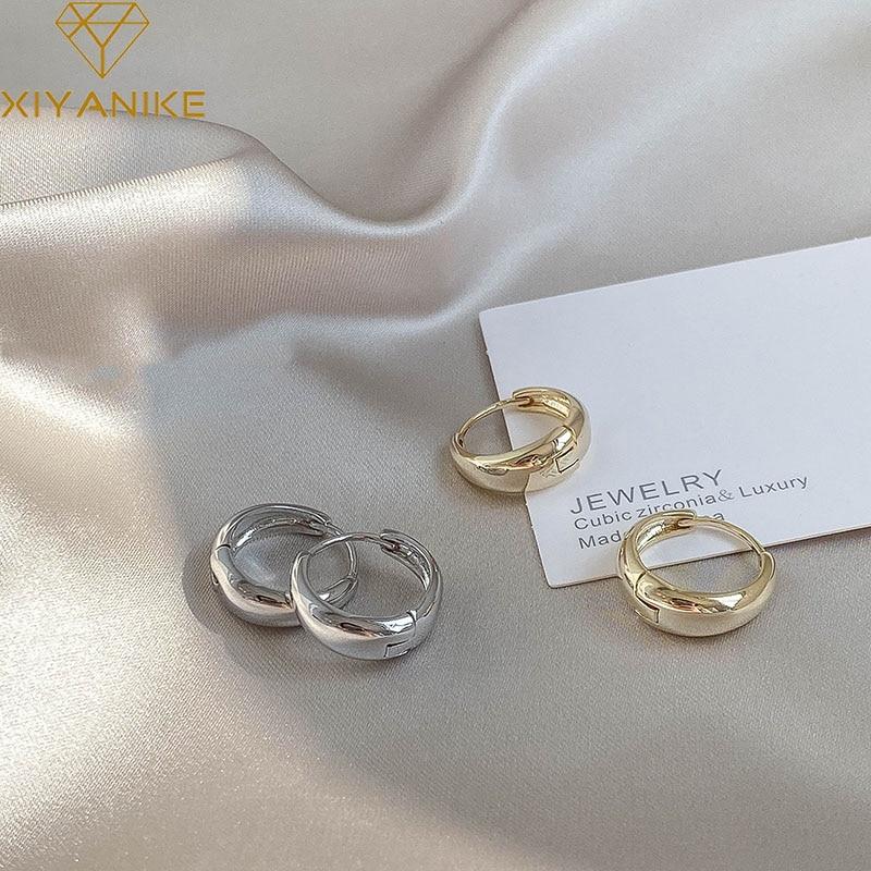 XIYANIKE-boucles d'oreilles en argent Sterling 925, boucles d'oreilles en cercle en Arc, tendance, rétro, Simple et Sexy, exquis pour Couple, cadeau de saint-valentin