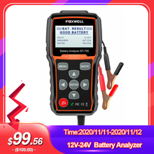 FOXWELL BT705 100 2000CCA Batterie Analyzer Tester für Autos Lkw 12V 24V Auto Ankurbeln und Lade System Test diagnose Tool