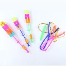 Slingshot-Toys Catapult Flying-Arrow Rocket Plastic Children Outdoor Kids for Gift Blue