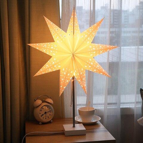 luminaria de mesa led em forma de estrela tomada da ue protecao para os olhos