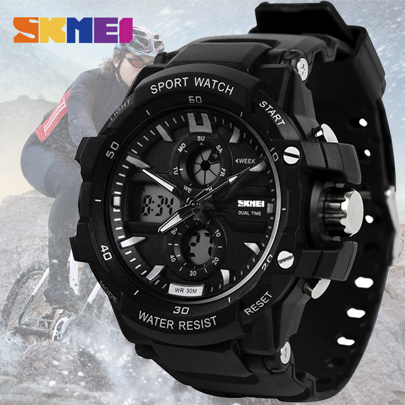 SKMEI Sport Watch Men Digital Mens Wristwatches Waterproof Military Dual Display  Watches Top Brand Luxury Relogio Masculino New