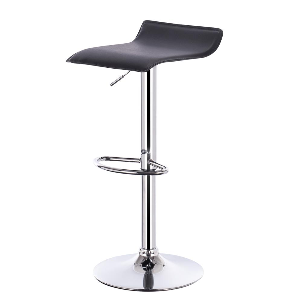 Stepless Adjustment Height Bar Stool Chrome-plated Steel Anti-slip Rubber Easy-care Synthetic Leather Well-pad Bar Furniture