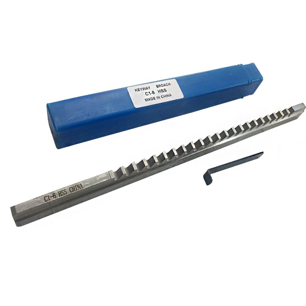 Metric Size Keyway Broach 6mm C Push Type /& Shim Cutter CNC Metalworking Tool