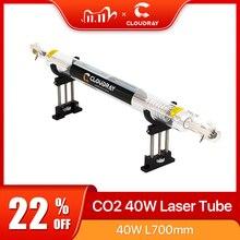 أنبوب الليزر الزجاجي Cloudray Co2 بسعة 700 مم, 40 واط، مصباح ليزر زجاجي، آلة قطع، النقش بالليزر CO2
