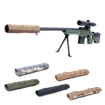Tactical silencer bag protective cover Sniper camouflage cover outdoor shooting and hunting CS field equipment 1
