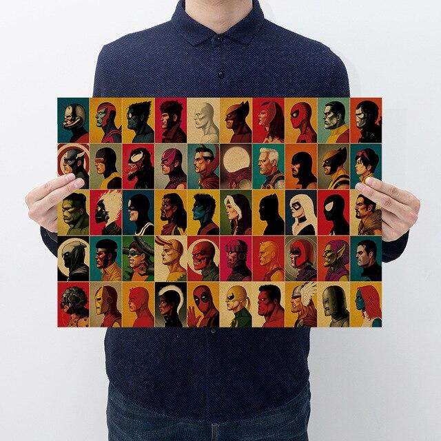 تيار مستمر رئيس صورة-ديكور المنزل ملصق جدار ملصق ريترو أنيمي المشارك نمط الاطفال المشارك 51.5x36 سنتيمتر بار مقهى غرفة ديكور