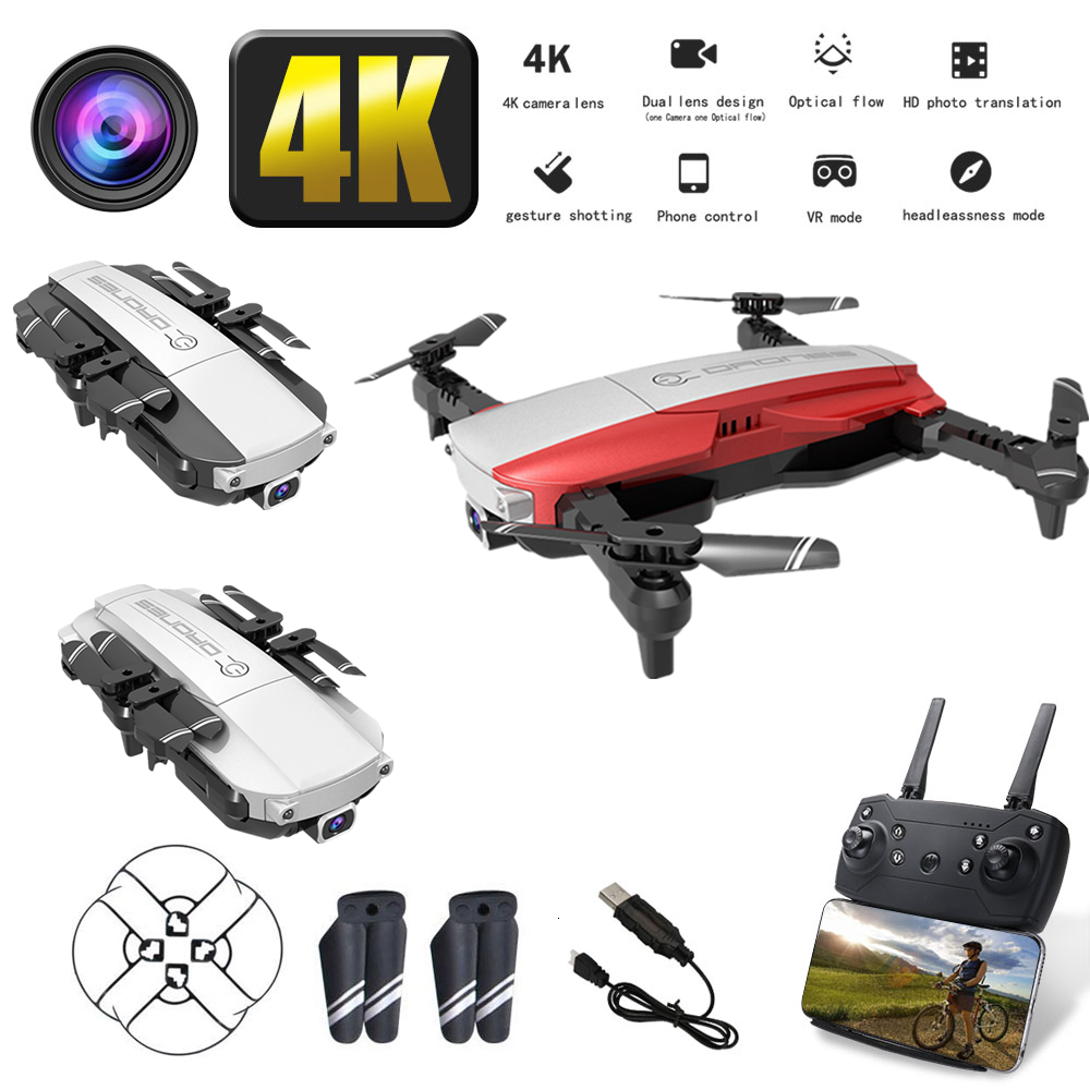 RC <font><b>Drone</b></font> <font><b>H3</b></font> with WiFi FPV 4K <font><b>HD</b></font> Camera Optical Flow Hover Foldable Remote Control Quadcopter with 1080P Camera Dron image