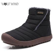 New Men Casual Boots Couple Warm Fur Plush Ankle Snow Boots